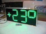 Вуличні годинник з великим кутом огляду 710х315 мм, фото 3