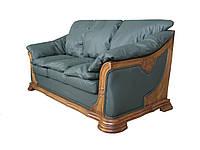 """Мягкий кожаный диван """"Ferenza"""" (Ференза) Индивидуальный размер, Американская раскладушка, ткань"""