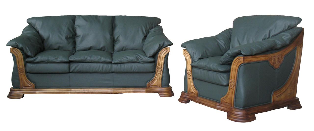 """Комплект кожаной мебели """"Ferenza"""" (Ференза). (3р+1)"""