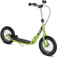 Самокат детский двухколесный Puky Cool Rider салатовый Германия надувные колеса OR