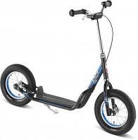 Самокат детский двухколесный Puky Cool Rider черный Германия надувные колеса