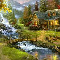 Набор алмазной мозаики Дом у реки