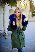 Молодежная куртка-пальто на зиму