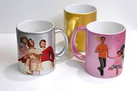 Чашка для сублимации  розовая   перламутр