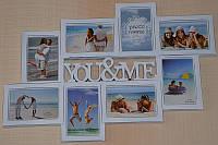 Рамка для фото, фотоколлаж из 8 фотографий
