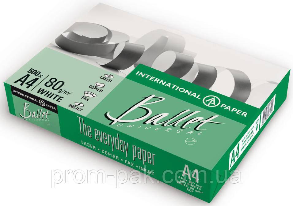 Бумага офисная Балет A4 пл 80  500 лист