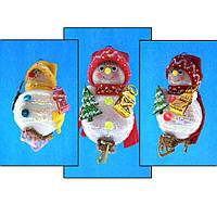 """Елочная игрушка """"Снеговик на коньках"""" (14 см, 3 вида, стекло)"""