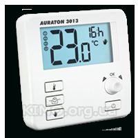 """Суточный цифровой термостат, джойстик, функция """"эконом"""", """"отпуск"""" 16А проводной Auraton-3013"""