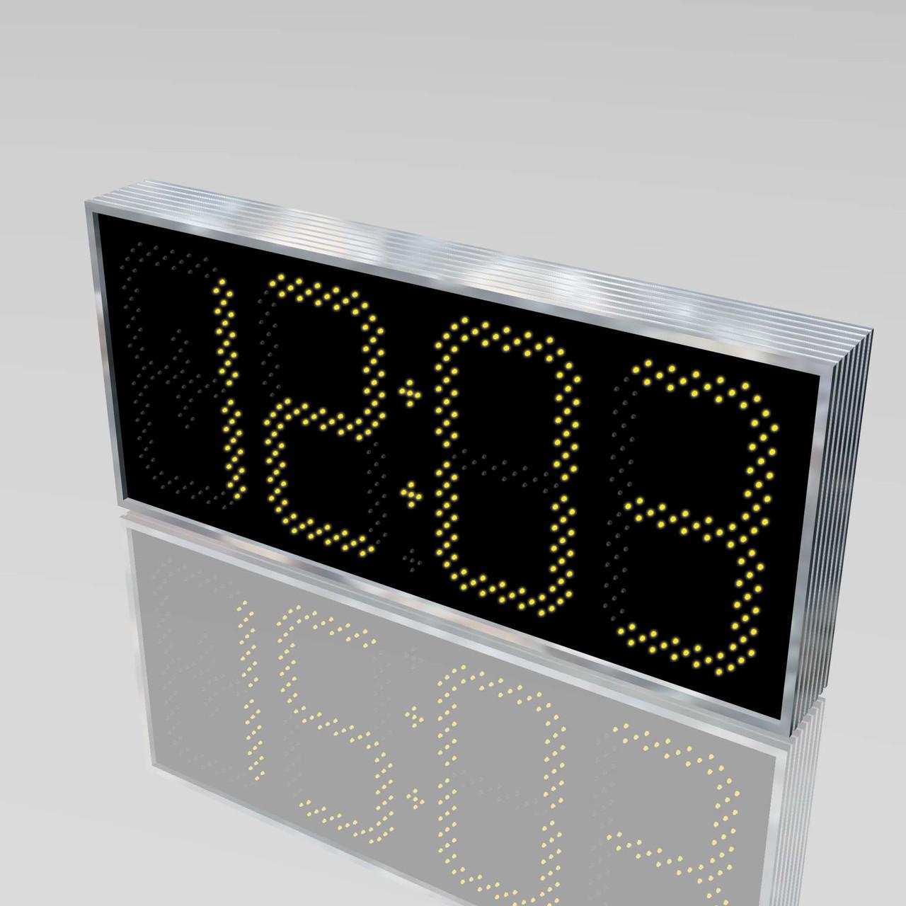 Великі вуличні годинники для магазину 900х400 мм