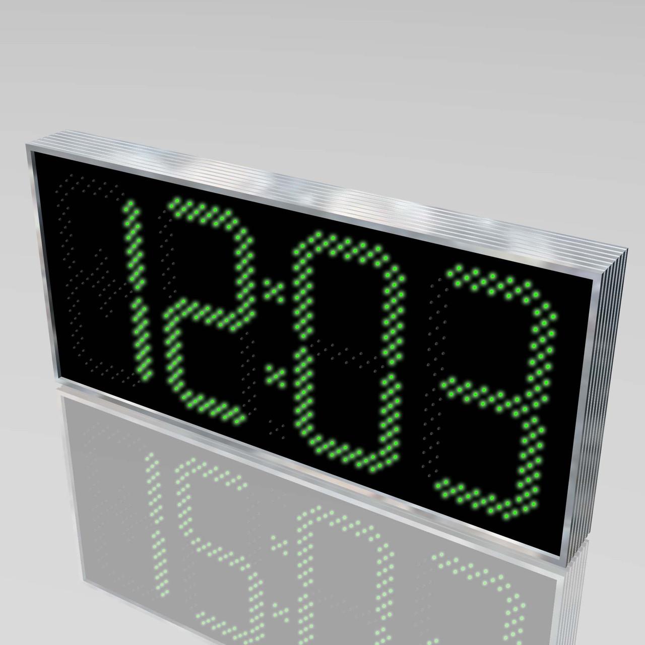 Электронные уличные часы с термометром 1100х500