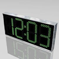 Электронные уличные часы с термометром 1100х500, фото 1