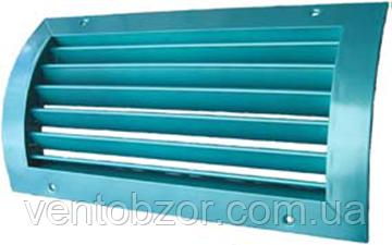 Решетка вентиляционная алюминиевая однорядная изогнутая регулируемая РОиР2