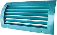 Решетка вентиляционная алюминиевая однорядная изогнутая регулируемая РОиР1