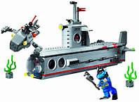 Конструктор подводная лодка BRICK 816 «Субмарина» (серия Combat Zones), 4 фигурки, 382 детали, 6+
