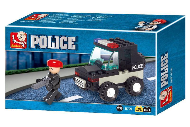 """Конструктор SLUBAN """"Полиция"""", 46 деталей"""