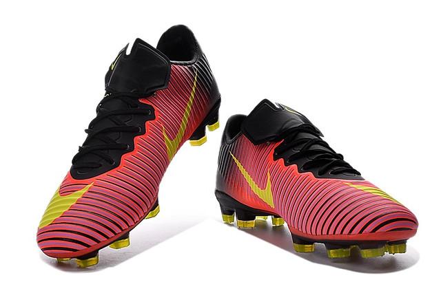 Футбольные бутсы Nike Mercurial Vapor XI FG Total Crimson/Volt/Pink Blast