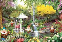 """Бумажные фотообои """"В саду у гномов"""" 280х196 см"""