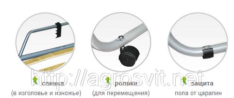 Раскладушка с матрасом Классик, фото 3