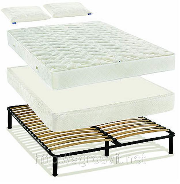 """Система для сна  """"Простое решение"""" № 2 или каркас-кровать на буковых ламелях"""