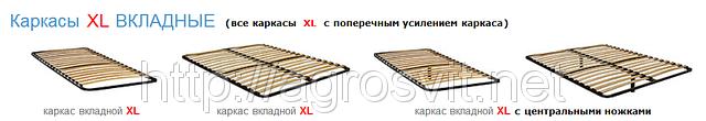 Каркас кровати вкладной XL без ножек , фото 3