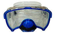 Маска для плавания  Zelart 264 Pro с обратным дыхательным клапаном и закаленным стеклом