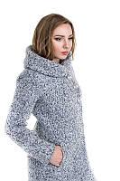 Женское зимнее шерстяное пальто с капюшоном Модель: Мэри