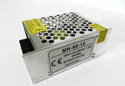 Блок питания для светодиодной ленты 12в 5А 60вт 5А LEDLIGHT IP20 compact, фото 2