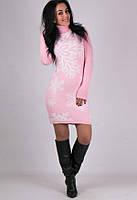 Вязаное платья - нежная Снежинка