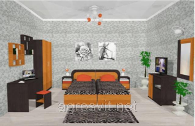 Спальня Флоренция двуспальный комплект, фото 2