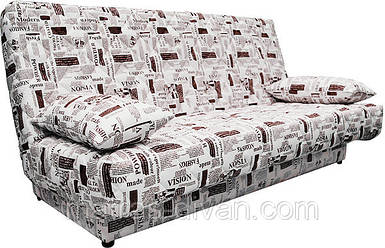 Диван-кровать Ньюс мех., трансформации клик-кляк Газета с двумя подушками