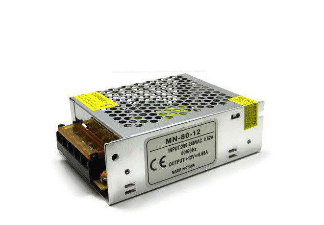 Блок питания для светодиодной ленты 12в 6,6А 80вт 6,6А LEDLIGHT IP20 compact