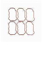 Прокладка клапанной крышки KOMATSU 6D125 (6150-11-8810)