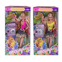 Susy кукла c одеждой и фотоаппаратом 2706, высота 29 см, 2 вида, в коробке 15х5,5х33,5 см