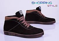Мужские осенние ботинки утепленные байкой