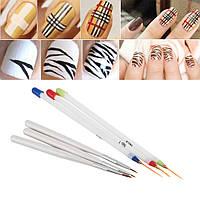 Набор кистей для росписи и дизайна ногтей, 6 шт