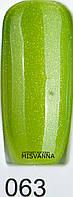Гель-лак Global Fashion, 15 мл №63 Салатовый с блестками