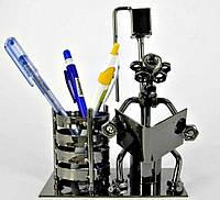 Техно-арт статуэтка На унитазе металл