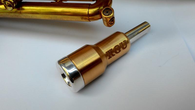 """Бустер для трубного мундштука KGUBrass Rocket (Raw Brass) - Магазин музыкальных инструментов """"Mayak-music"""" в Белой Церкви"""