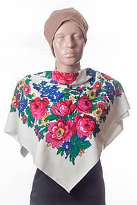 Платок трикотаж цветы