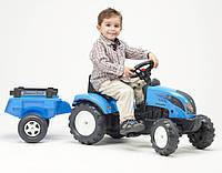 Трактор  на педалях с прицепом Falk LANDINI синий