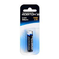 Литиевый Аккумулятор ROBITON 0.8/Li14500/AA с защитой