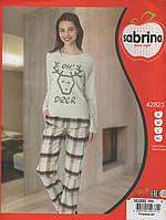 Стильная пижама с Оленями в клетку тм Sabrina