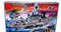 Конструктор  821 Брик Военный корабль