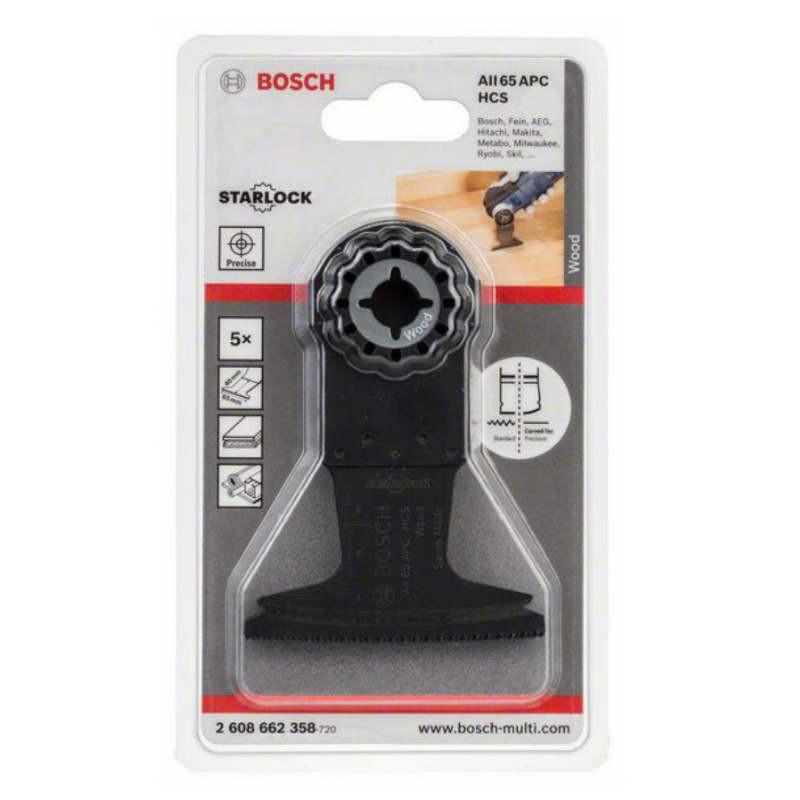 Погружное пильное полотно Bosch AIZ 65 BC HCS WOOD 5 шт, 2608662358