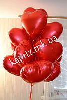 Облако из 15 фольгированных сердец