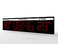 Светодиодное табло для бассейна 1600х370 (часы-термометр)