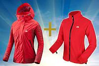 Качественная куртка 2 в 1 The North Face. Женская куртка. Утеплитель флис. Купить в интернете. Код: КДН1005