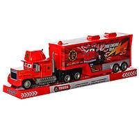 Трейлер игрушка Тачки SD-033E1: 48см, кузов открывается, инерционный, в слюде 50,5х15х10 см