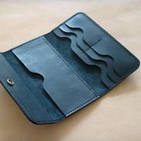 """Портмоне кошелек, гаманець """"Dark"""" ручної роботи, натуральна шкіра, на кнопці, клатч"""