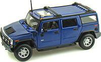 MAISTO Автомодель (1:27) 2003 Hummer H2 SUV синий